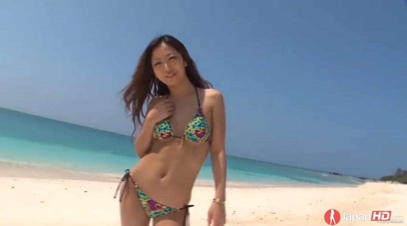 Outdoor sex scene begins with a stunning Japanese woman showing off her wonderful body to the camera