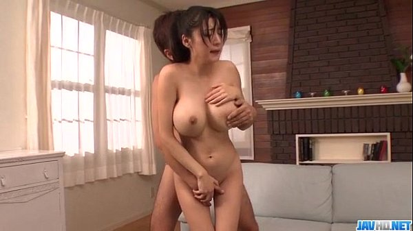 Japanese with big tits - Naughty boy plays with huge breasts of hot Miho Ichiki